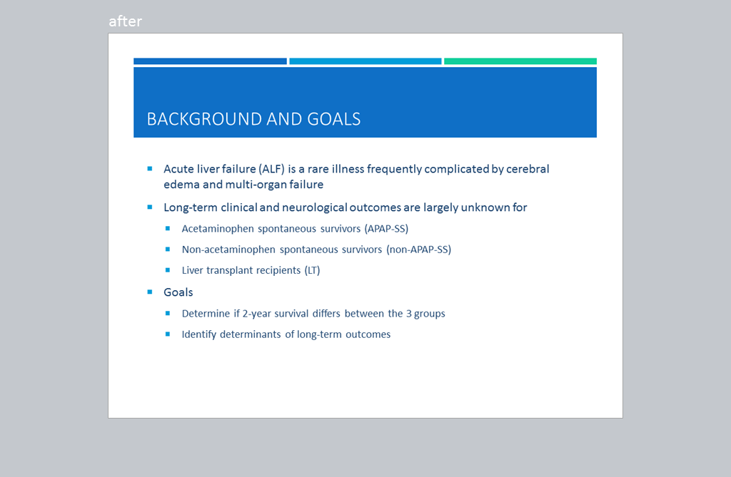 "3rd slide, titled ""Background and Goals"",further summarizes the article succinctly."